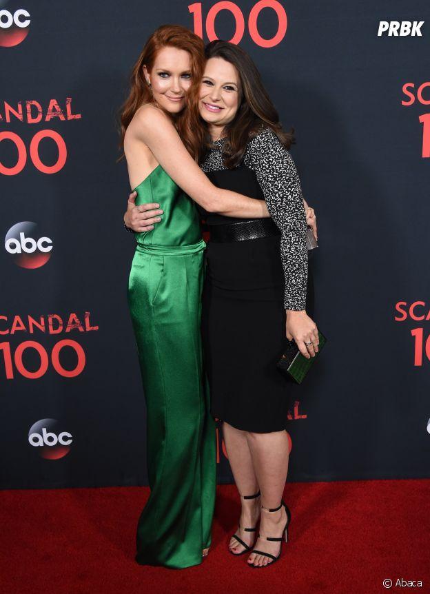Katie Lowes et Darby Stanchfield à la soirée des 100 épisodes de Scandal le 8 avril 2017