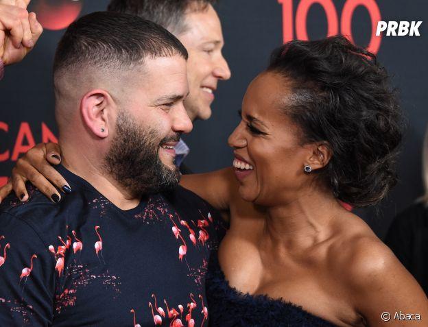 Kerry Washington et Guillermo Diaz à la soirée des 100 épisodes de Scandal le 8 avril 2017