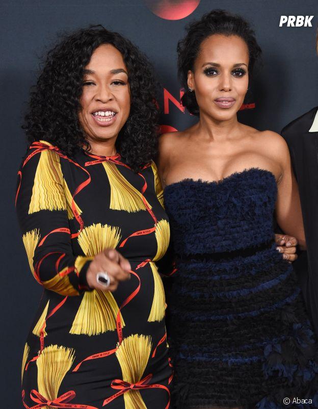 Shonda Rhimes et Kerry Washington à la soirée des 100 épisodes de Scandal le 8 avril 2017
