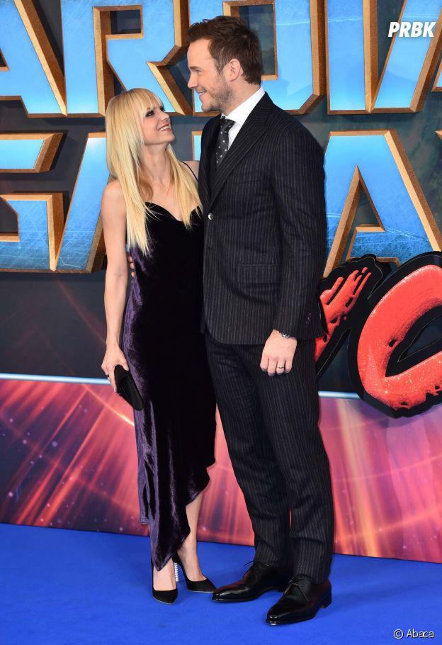 Chris Pratt et Anna Faris amoureux à l'avant-première des Gardiens de la Galaxie 2