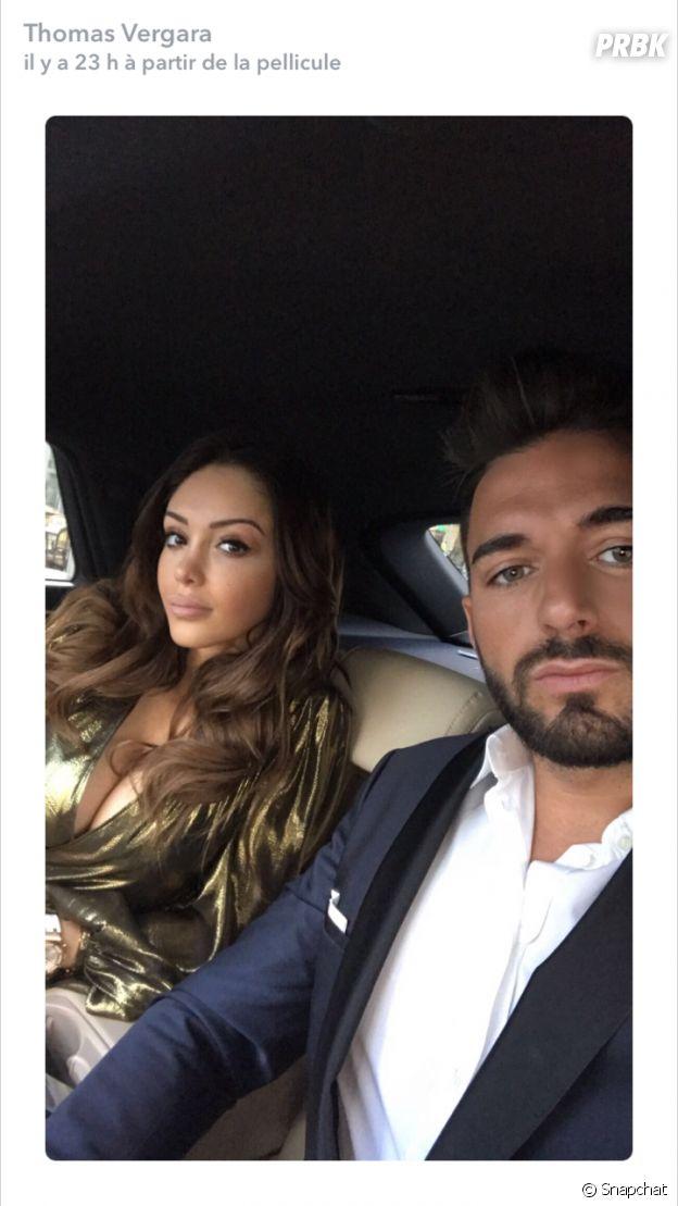 Nabilla Benattia et son chéri Thomas Vergara au mariage de Tarek Benattia