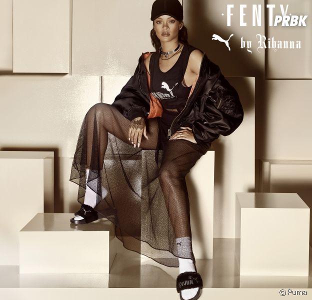 Fenty x Puma : Rihanna a lancé la mode des claquettes portées avec des chaussettes !
