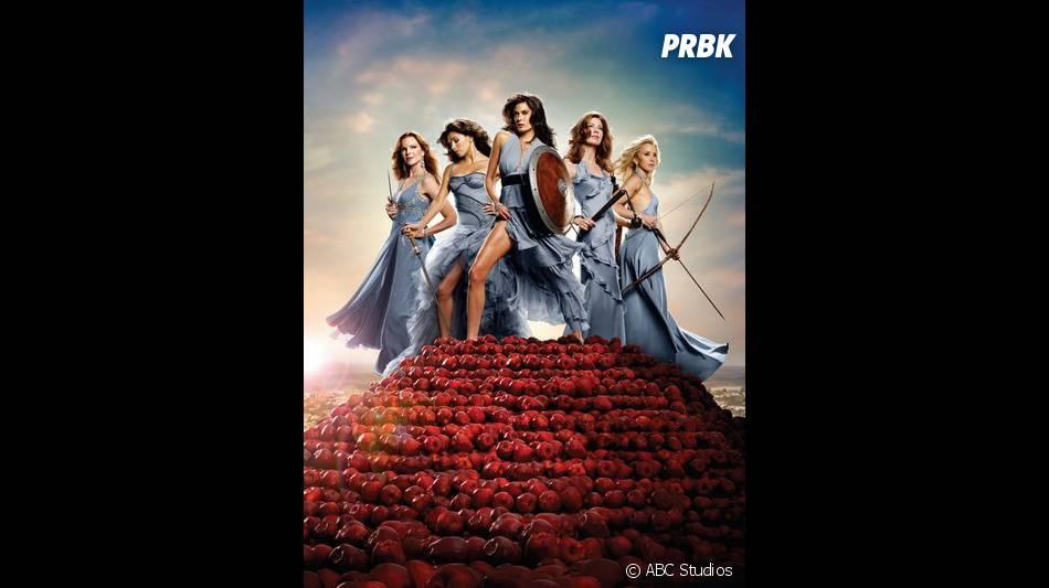 Marcia Cross, Eva Longoria, Teri Hatcher, Dana Delany et Felicity Huffman sur une photo de Desperate Housewives