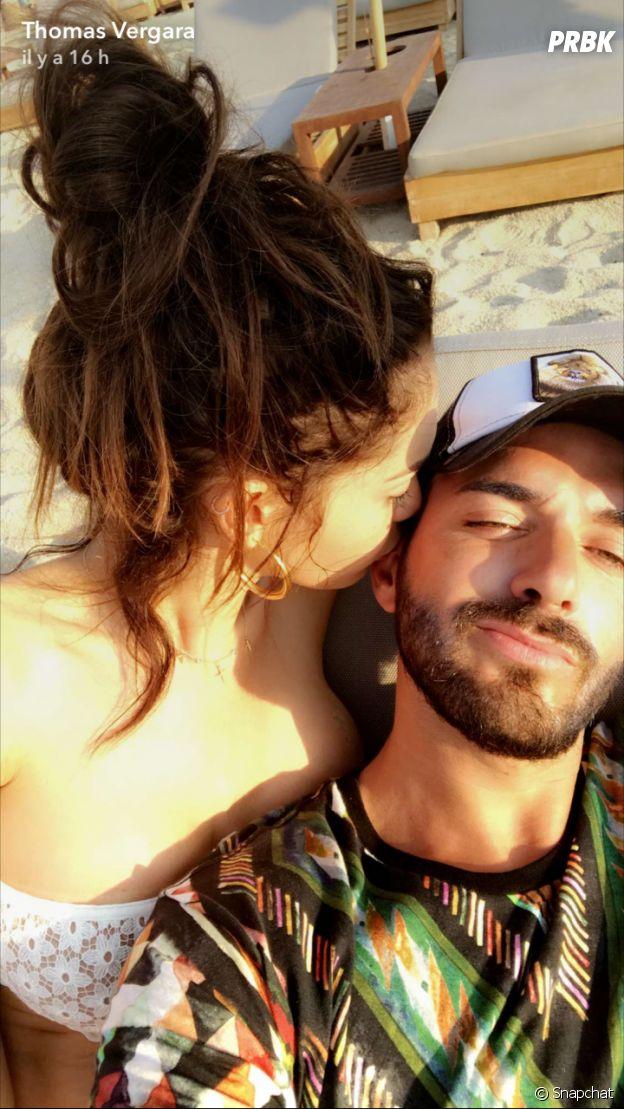 Nabilla Benattia et Thomas Vergara en vacances à Mykonos