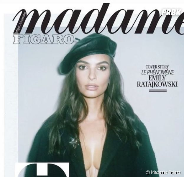 Emily Ratajkowski retouchée en Une de Madame Figaro