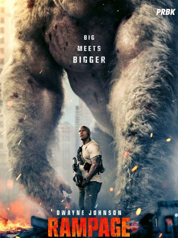 Rampage : Dwayne Johnson face à des animaux géants dans une bande-annonce épique