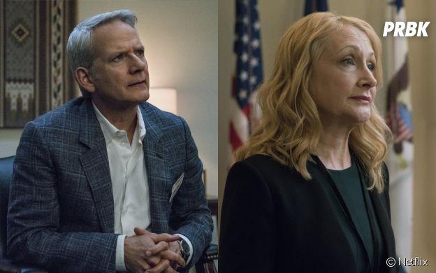 House of Cards saison 6 : Patricia Clarkson (Jane Davis) et Campbell Scott (Mark Usher) de retour