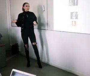 Haneia (Les Anges 9) donne un cours à des élèves de Sciences Po !
