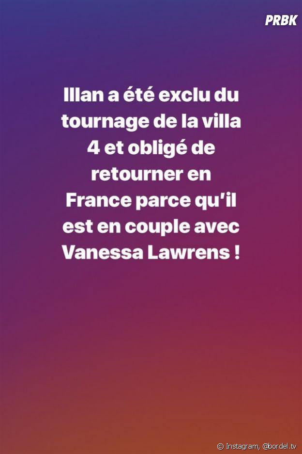 La Villa des Coeurs Brisés 4 : Illan viré du tournage parce qu'il est en couple avec Vanessa Lawrens ?