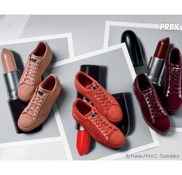 Puma x MAC ou comment matcher ses sneakers avec son rouge à