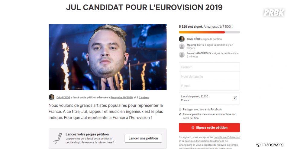 JUL bientôt à l'Eurovision ? Une pétition veut que le rappeur représente la France en 2019 !