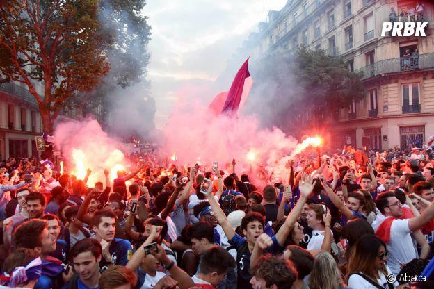 La folie à Paris après la victoire des Bleus lors de la demi-finale France/Belgique le 10 juillet 2018