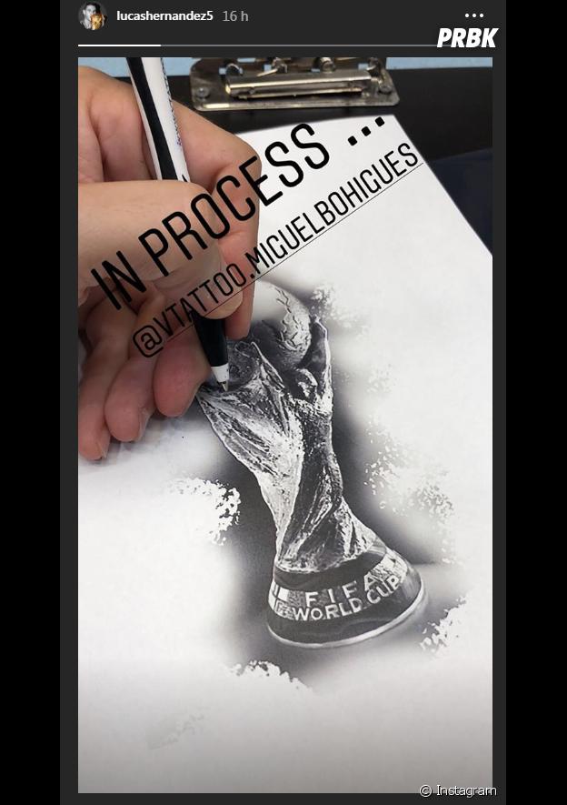 Lucas Hernandez va se faire tatouer la coupe du monde