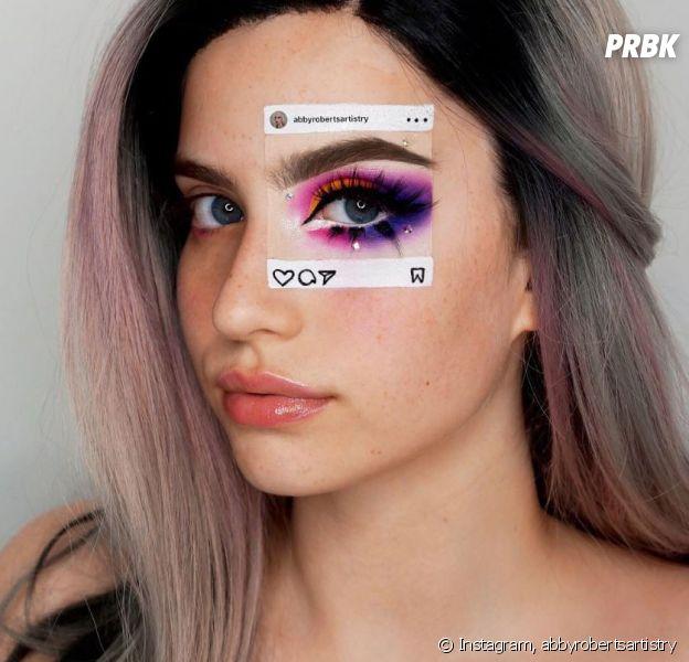 """""""Instaception"""", la tendance makeup qui montre la différence entre Instagram et la réalité."""