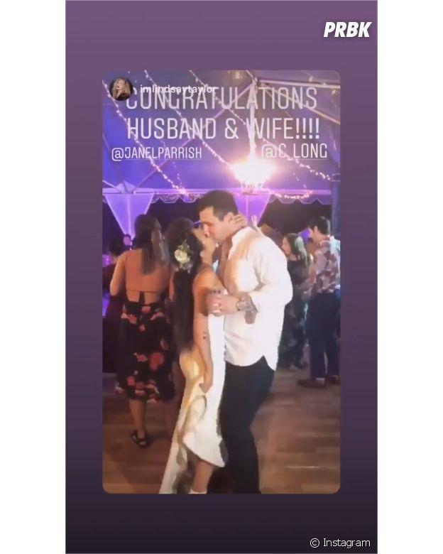 Janel Parrish et Chris Long lors de leur mariage le 8 septembre 2018
