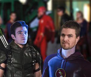 The Flash et Arrow : changement de costumes, premières images de Barry en Arrow et Oliver en Flash