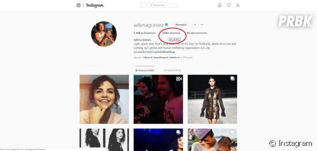 Selena Gomez n'est plus la personne la plus suivie sur Instagram