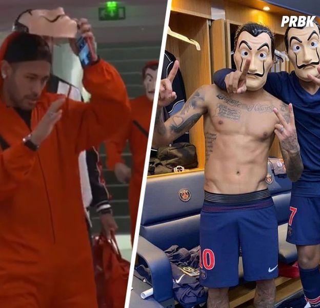 Kylian Mbappé et Neymar déguisés en braqueurs de La Casa de Papel, les internautes se moquent