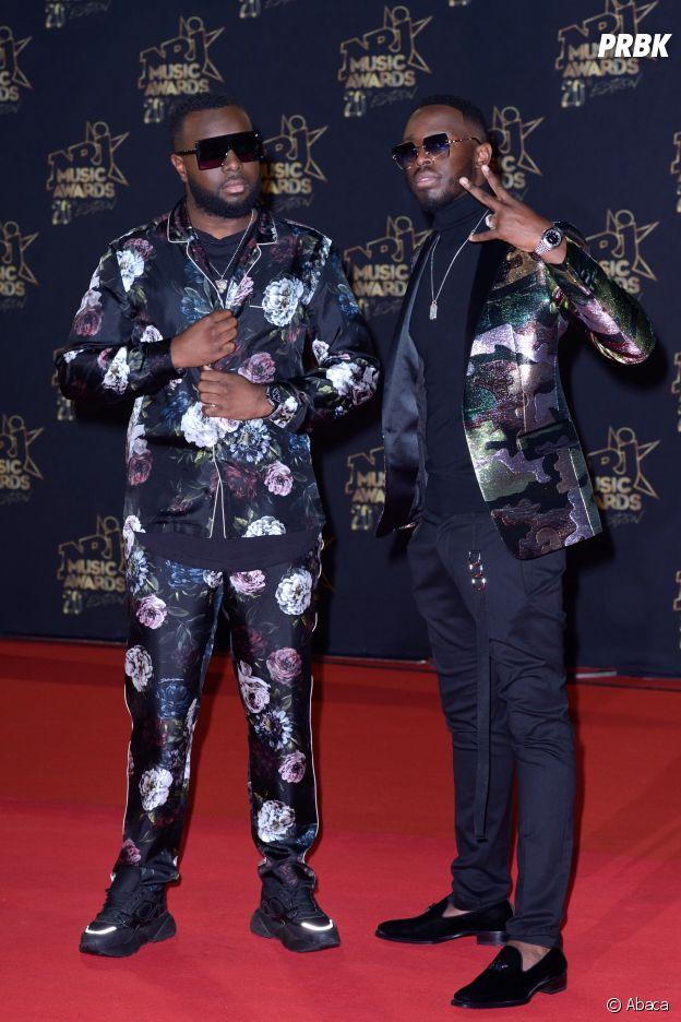 Maître Gims et son frère Dadju aux NRJ Music Awards 2018.