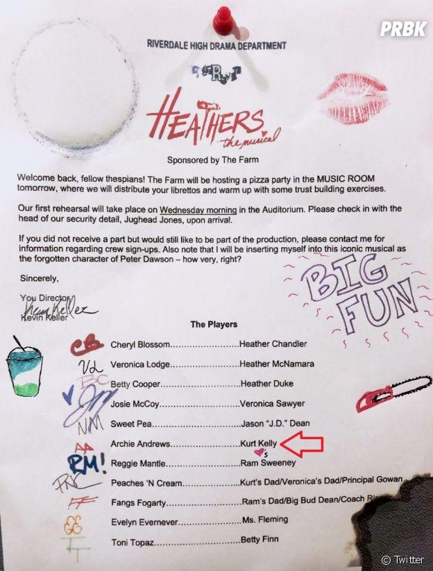 Riverdale saison 3 : Archie bien présent au casting de l'épisode musical