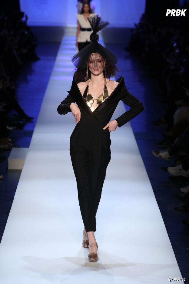 Coco Rocha au défilé Jean-Paul Gaultier Haute Couture printemps-été 2019.