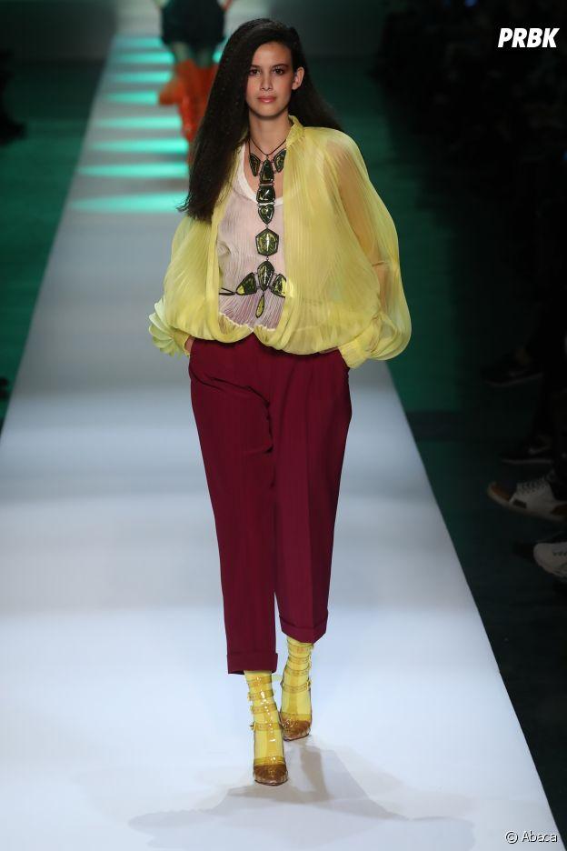 Lilia Hassaine (Quotidien) au défilé Jean-Paul Gaultier Haute Couture printemps-été 2019.