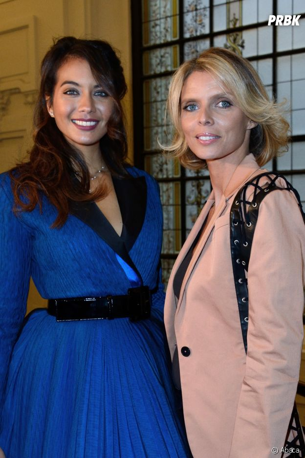 Vaimalama Chaves et Sylvie Tellier au défilé Jean-Paul Gaultier Haute Couture printemps-été 2019.