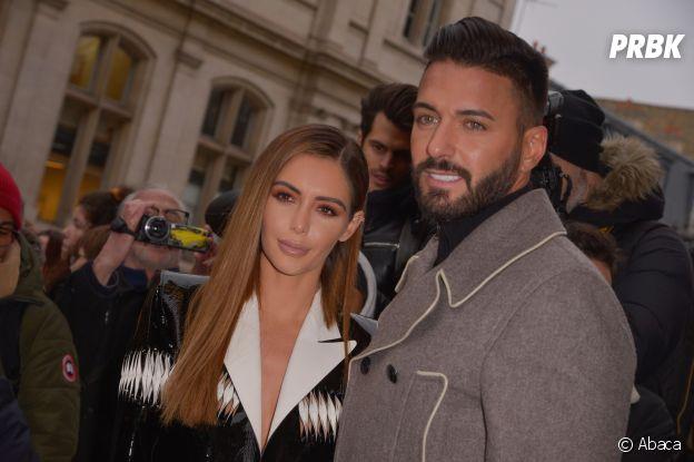 Nabilla Benattia et Thomas Vergara au défilé Jean-Paul Gaultier Haute Couture printemps-été 2019.