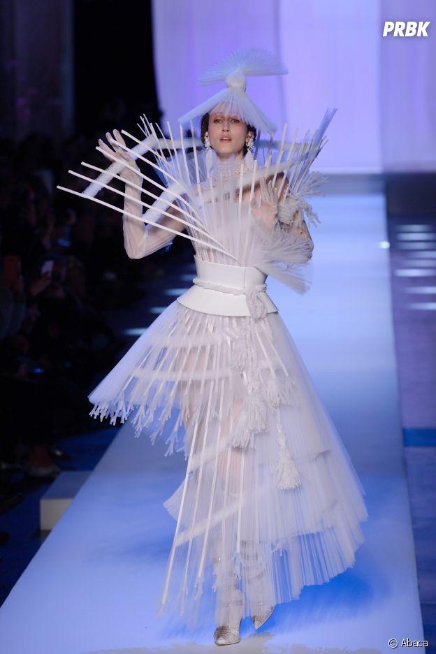 Anna Cleveland au défilé Jean-Paul Gaultier Haute Couture printemps-été 2019.