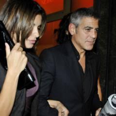 Photos ... George Clooney et Elisabetta Canalis ont croisé des paparazzi