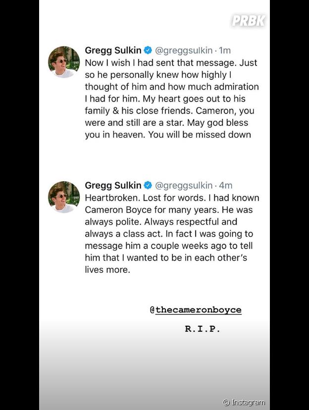 Cameron Boyce mort à 20 ans : Gregg Sulkin rend hommage à la star de Disney