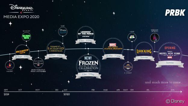 Disneyland Paris : le récap complet du programme 2019 et 2020