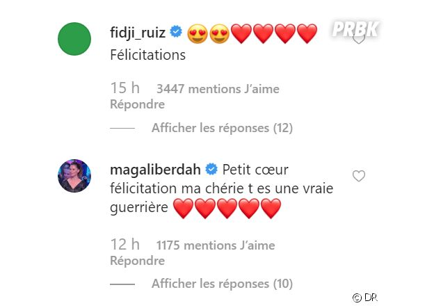 Carla Moreau et Kevin Guedj parents : les messages de félicitations de Fidji et Magali Berdah