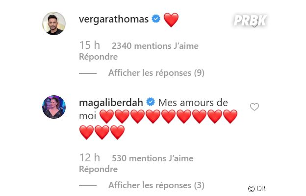 Carla Moreau et Kevin Guedj parents : les messages de félicitations de Thomas Vergara