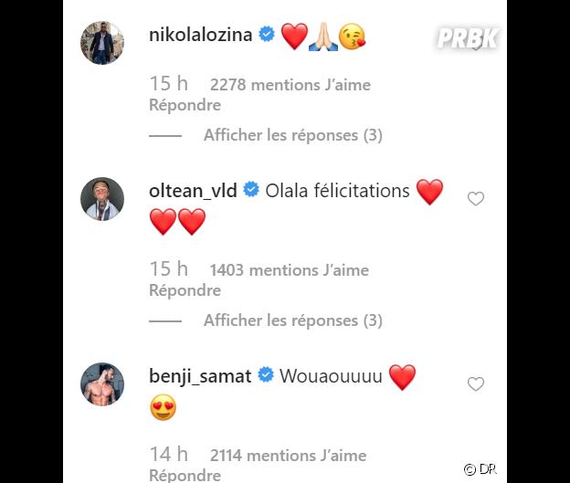 Carla Moreau et Kevin Guedj parents : les messages de félicitations de Nikola Lozina et Benjamin Samat
