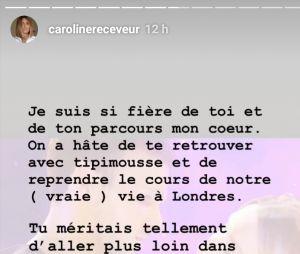 Danse avec les Stars 10 : Caroline Receveur réagit à l'élimination de Hugo Philip sur Instagram Stories