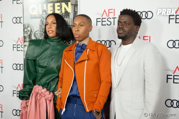 Melina Matsoukas, Lena Waithe et Daniel Kaluuya à l'avant-première du film Queen & Slim le 14 novembre 2019 à Los Angeles
