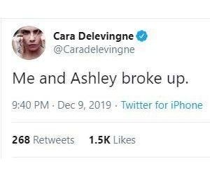 Cara Delevingne annonce sa rupture avec Ashley Benson ?