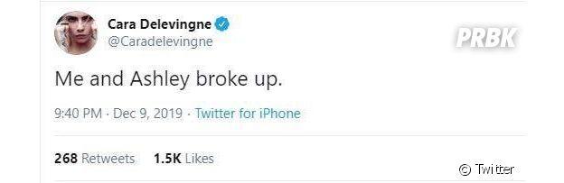 Cara Delevingne annonce sa rupture avec Ashley Benson ?
