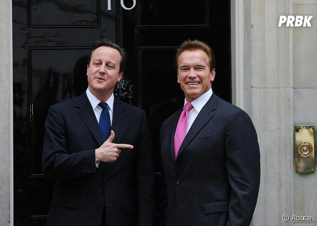Arnold Schwarzenegger et David Cameron