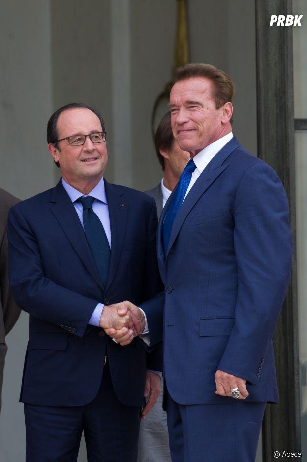 Arnold Schwarzenegger et François Hollande