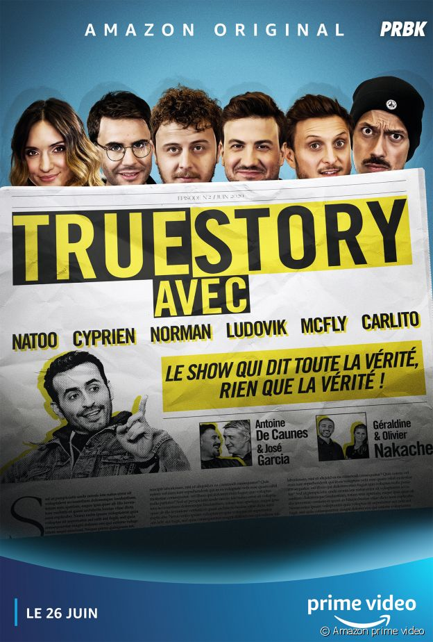 """Cyprien, Natoo, McFly, Carlito, Norman et Ludovik réunis dans la série """"True Story"""" sur Amazon"""