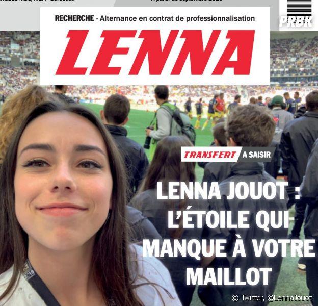 Lenna Jouot a réalisé un CV inspiré du journal L'Equipe