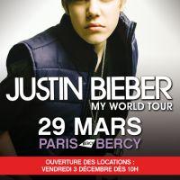 Justin Bieber à Bercy ... vente des billets dès mercredi 1er décembre