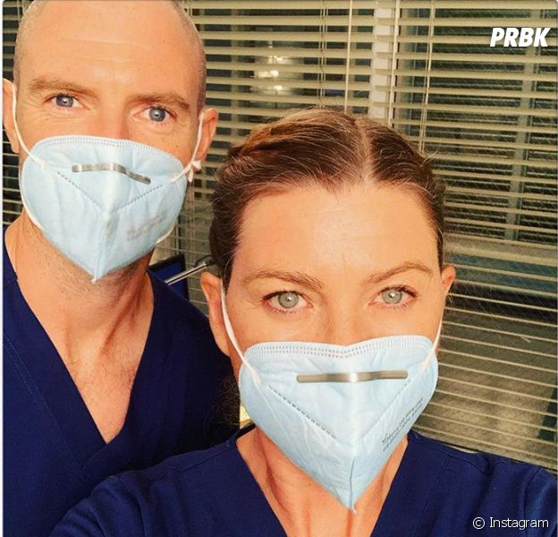 Grey's Anatomy saison 17 : Ellen Pompeo annonce la reprise du tournage avec un selfie en compagnie de Richard Flood (Cormac Hayes)