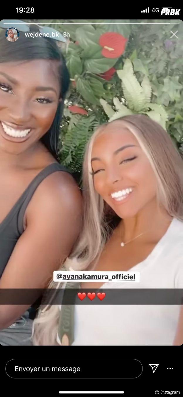 Wejdene et Aya Nakamura s'affichent ensemble sur Instagram