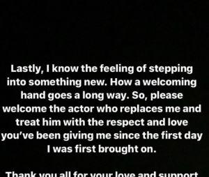After 3 et 4 : un acteur quitte la saga