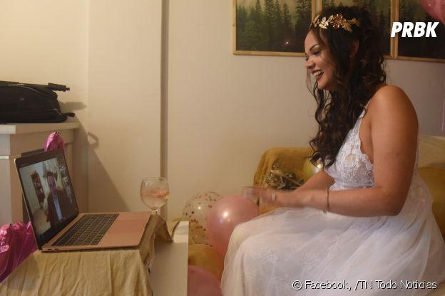 """Premier couple marié sur Zoom : Scott Marmon et Agustina Montefiori se sont dit """"oui"""" à distance à cause du coronavirus"""