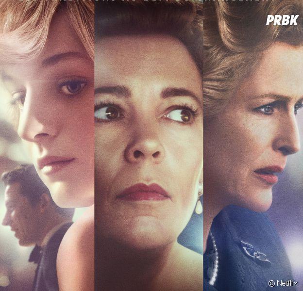 The Crown saison 4 : l'affiche avec Diana, Elisabeth et Margaret Thatcher