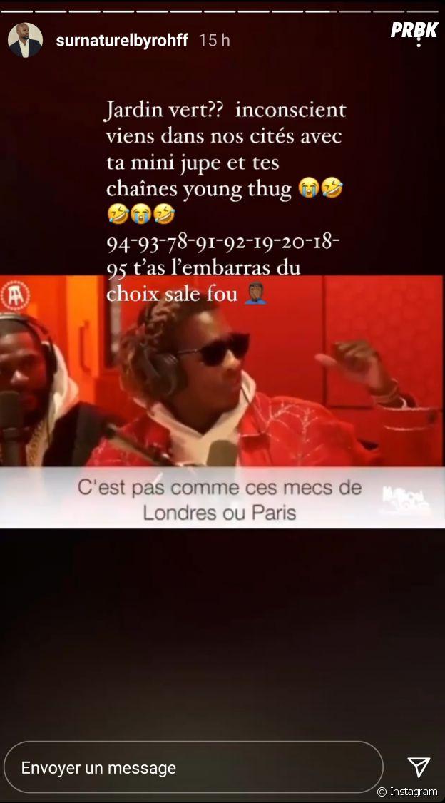 """Young Thug clashe les rappeurs de Paris qui vivent """"dans des manoirs"""" et """"n'ont rien vécu de chaud"""" : Rohff lui répond"""